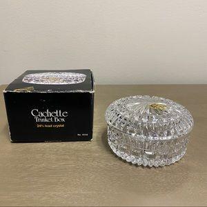 Vintage Crystal d'Adriana Cachette Trinket Box